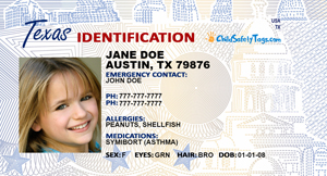 Texas ID Tag